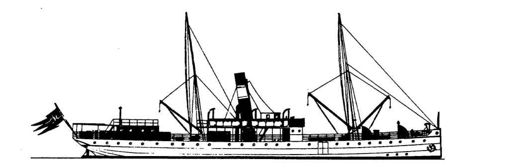 XVIII. yüzyıl sonlarında ilk Hurtigruten seferlerini yapan gemi: S/S Vesteraalen 1891