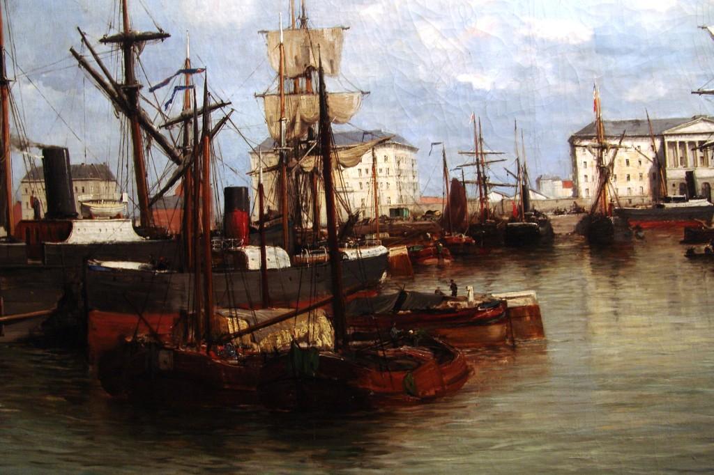 """Flaman ressam Robert Mols'un """"19. Yüzyıl Sonlarında Antwerpen'de Willem Havuzu"""" adlı tablosu."""