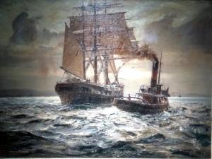 A. V. Burgess'in Çekiciyle Pazarlık adlı tablosu